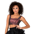 Adult Lace and Sequin Crop Tank Top - Style No 1702590A
