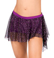 Girls Shorts with Glitter Overlay Skirt - Style No 3522