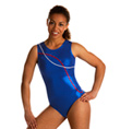 Adult Ocean Blue Striped Leotard - Style No 3594