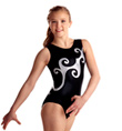 Adult Black and Silver Curls Leotard - Style No 3630