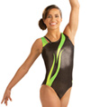 Adult Asymmetrical Flame Tank Leotard - Style No 3658
