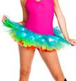Adult Light Up Neon Rainbow Tutu - Style No A1840