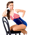 """Pinup Girl"" Adult Tank Unitard - Style No AS1033"
