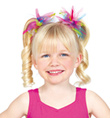 Tattered Multi Colored Scrunchie - Style No C28168