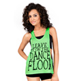 "Adult ""Leave it on the Dance Floor"" Lace Tank Top - Style No DA333"