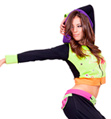 Adult Color Block Crop Hoodie - Style No FD0145