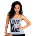 Adult Live to Dance Camisole String Back Top - Style No FD0177