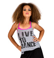 Child Live to Dance Camisole String Back Top - Style No FD0177C