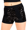 Adult High Waist Sequin Stripe Short - Style No FD0181