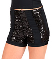 Child High Waist Sequin Stripe Dance Short - Style No FD0181C