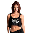 "Girls Sequin ""Dance"" Camisole Crop Top - Style No FD0183C"