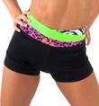 Girls High Waist Color Block Shorts - Style No FD0193C