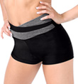 Adult Color Block High V-Waist Dance Short - Style No FD0210