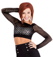 Long Sleeve Net Crop Top - Style No FN05
