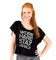 """""""Work Hard Stay Humble"""" Dance T-Shirt - Style No FP027"""