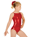 Child Gymnastic Basic Metallic Camisole Leotard - Style No G501C