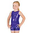 Child Gymnastic Basic Metallic Biketard - Style No G503C