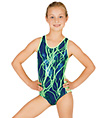 Child Gymnastic Lightning Bolt Tank Leotard - Style No G513C