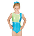 Child Gymnastic Color Block Tank Leotard - Style No G522C