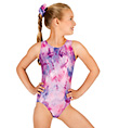 Child Gymnastic Two-Tone Leotard - Style No G530C
