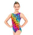 "Child ""Cosmos"" Gymnastic Tank Leotard - Style No G553C"