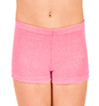"Child ""Stardust"" Velvet Gymnastic Dance Short - Style No G559C"