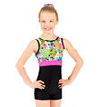 "Child ""Hearts & Stars"" Gymnastic Biketard - Style No G572C"