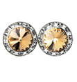 15mm Swarvoski Light Colorado Topaz Performance Earrings Clip-On - Style No JELCT15C-6P