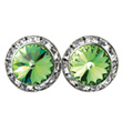 15mm Swarovski Peridot Performance Earrings Clip-On - Style No JEPER15C-6P