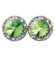15mm Swarovski Peridot Performance Earrings Pierced - Style No JEPER15P-6P