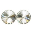 14mm Swarovski Crystal Simple Rivoli Earrings Pierced - Style No JESRCRY14P-6P