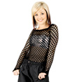 Long Sleeve Fishnet Top - Style No JULIAN5