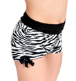 Girls Zebra Shorts with Side Tie - Style No K5119