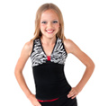 Girls Zebra Tank with Open Back - Style No K5134