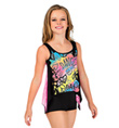 Girls Lace Back Black Tank Top - Style No K5206