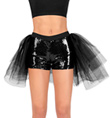 Sequin Short with Attached Tulle Bustle - Style No LS100