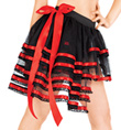 Red Satin Trimmed Tulle Tutu with Bustle - Style No LS103