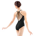 Adult Camisole Lattice Racer Back Leotard - Style No M2059LM