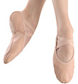 "Adult ""Medley"" Leather Split-Sole Ballet Slipper - Style No MS220"