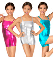 Child Metallic Camisole Shorty Unitard  - Style No N7031C