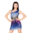 Sequin One Shoulder Dress - Style No N7040