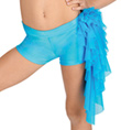 Child Mesh Ruffle Booty Shorts - Style No N7082C
