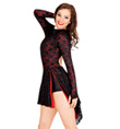 Adult Open Back Long Sleeve Lace Dress - Style No N7091