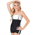 Child Metallic Insert Shorty Unitard - Style No N7111C