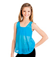 Child Power Mesh Tie Back Tank Top - Style No N8661C