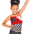 Child Mixed Print and Ruffle Camisole Top - Style No N8689C