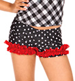 Child Polka Dot Ruffle Dance Short - Style No N8690C