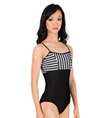 Striped Camisole Leotard with Back Bodice - Style No N8765