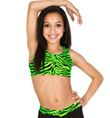 Child Zebra Racer Back Bra Top - Style No NF8447C