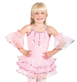 Child Camisole Tutu Dress with Flutter Armbands - Style No SK585